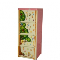 Royal Wardrobe Single 4 Drawers Knock Down Kiddo 839702