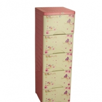 Royal Wardrobe Single 5 Drawers Knock Down Elegant Violet 839739