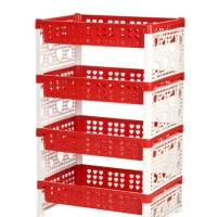TEL Plastic Famous Rack Red & White 803310