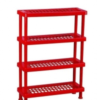 TEL Plastic Shoe Rack Red 803321