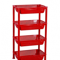 TEL Plastic Vegetable Rack Red 803317