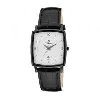 Titan Leather Analogue Watch For Men 9159NL02