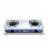 Topper Double SS Auto Gas Stove LPG A-213