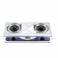 Topper Double SS Auto Gas Stove NG A-211