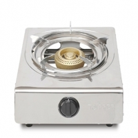 Topper Single SS Auto Gas Stove NG A-106