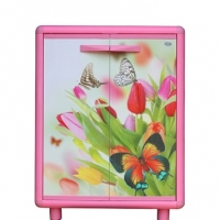 Trendy PVC Small Almirah Knock Down Butterfly Premio 802647