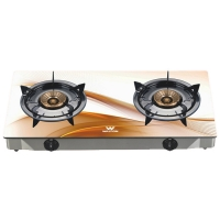 Walton Gas Stove  Glass Top Double Burner WGS-3GNS1