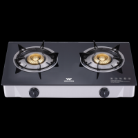 Walton Gas Stove  Glass Top Double Burner WGS-GH2 (LPG)