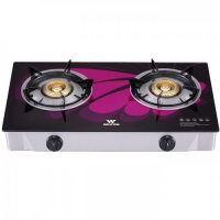 Walton Gas Stove  Glass Top Double Burner WGS-GHT1 (LPG) PURPLE WING