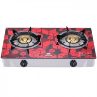 Walton Gas Stove  Glass Top Double Burner WGS-GHT1 (LPG) RED CUBE