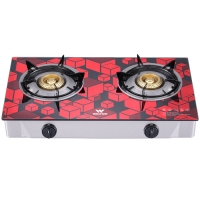 Walton Gas Stove  Glass Top Double Burner WGS-GHT1 (NG) RED CUBE