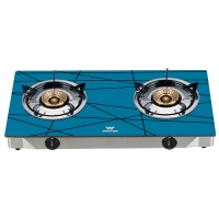 Walton Gas Stove Glass Top Double Burner WGS-GNS2 (NG)