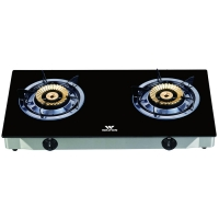 Walton Gas Stove  Glass Top Double Burner WGS-GNSB1