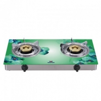 Walton Glass Top Double Burner WGS-3GSLS1 (LPG)