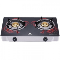 Walton Glass Top Double Burner WGS-GHT1 (NG) RED BLOSSOM