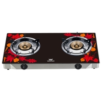Walton Glass Top Double Burner WGS-GNS1 (NG) Maple Leaf