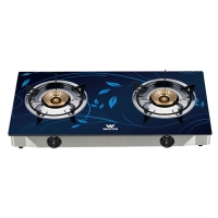 Walton Glass Top Double Gas Burner WGS-GNS1 (LPG)