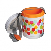 Winner 3 Layer Plastico Tiffin Carrier with Belt BB81096
