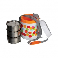 Winner 3 Layer Stelo Tiffin Carrier with Belt BB-81091