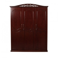 Wood Art Oak Wood and Oak Veneer 3 Doors Boxer Almirah P2(00-345)