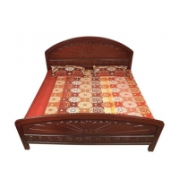 Wood Art Oak Wood and Oak Veneer 78'X66' Orchid Bed HNZ-105-111-A1 ( 00-271)