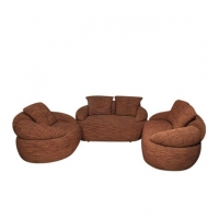 Wood Art Oak Wood and Oak Veneer Sofa Set HNZ-101-115-A1