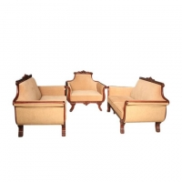 Wood Art Oak Wood and Oak Veneer Sofa Set  HNZ-101-122-A (00-560)