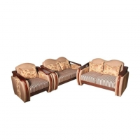 Wood Art Oak Wood and Oak Veneer Sofa Set SM (00-330)