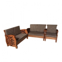 Wood Art Oak Wood and Oak Veneer Sofa Set ZF ( 00-420)