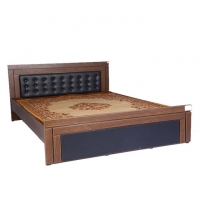 Hatim Furniture Laminated Board Double Bed HBDH-104-4-10