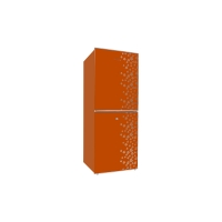 Jamuna Refrigerator JR-UES626300-Glossy Shining Orange Flower