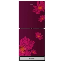 Konka KRT-180GBTMW-RED SAKURA (2-Door, Upper Freezer, Glass Door) Refrigerator