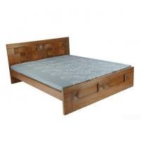 Nurjahan Furniture Stylish Semi-Box Bed BD-01