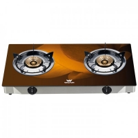 Walton Gas Stove  Glass Top Double Burner WGS-3GNS1 (NG) Coffee 3D